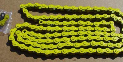 Žltá reťaz pre 1-rýchlostné bicykle