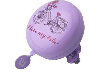 Zvonček Extend fialový bicykel