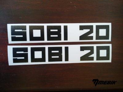 Nálepky SOBI 20 - čierne