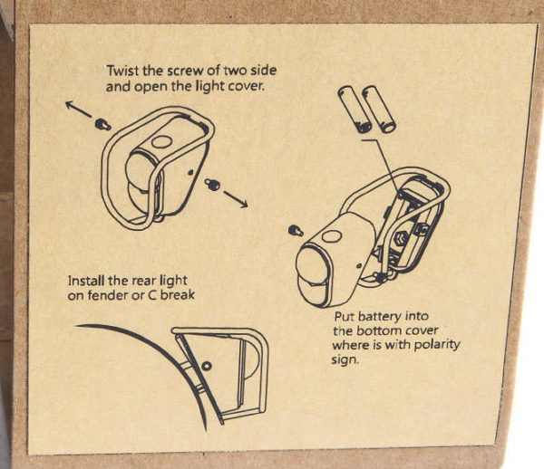 Zadné LED svetlo - tigrie oko