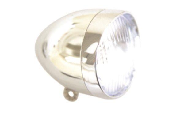 Predné retro svetlo, strieborné, LED
