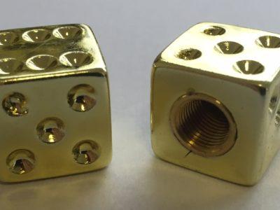 Ozdobná čiapočka ventilu kocky zlaté