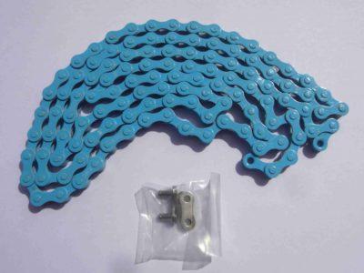 Svetlo modrá reťaz pre 1-rýchlostné bicykle