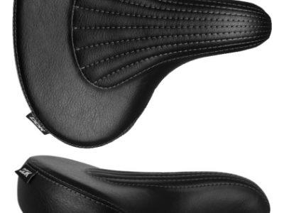 Extra široké pružinové sedlo čierne