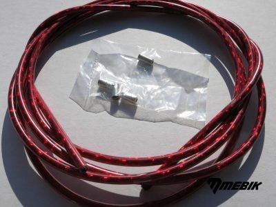 Bowden 2,5m x 5mm - červená metalíza