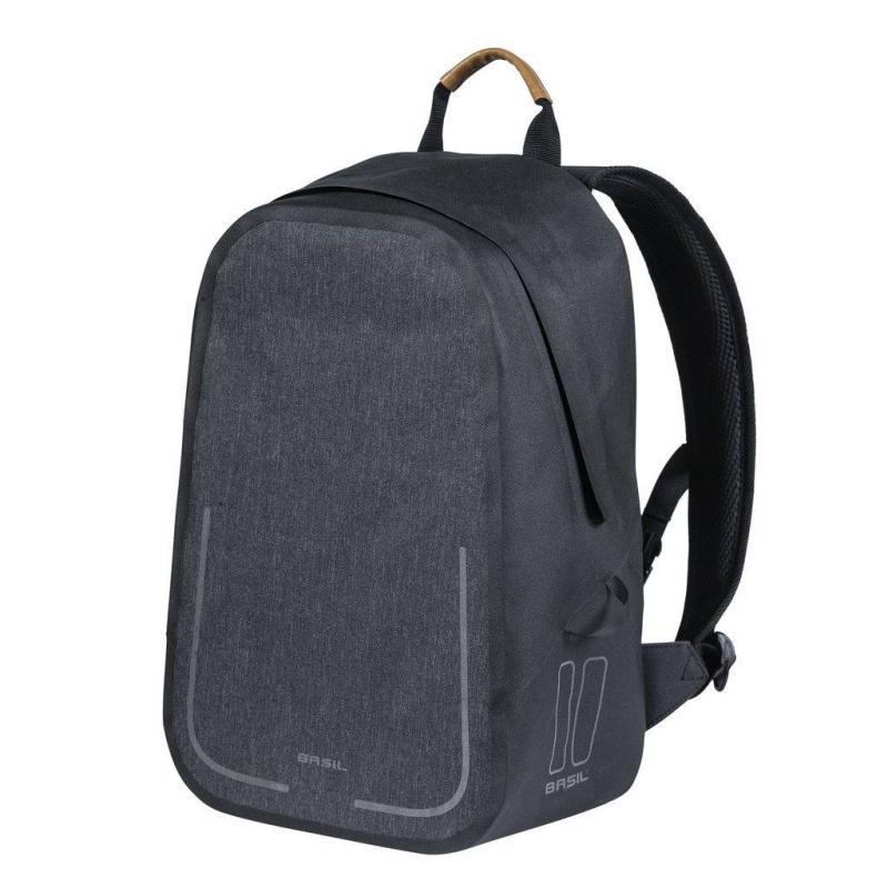 moderny batoh na bicykel s kapacitou 18 litrov basil urban dry backpack v