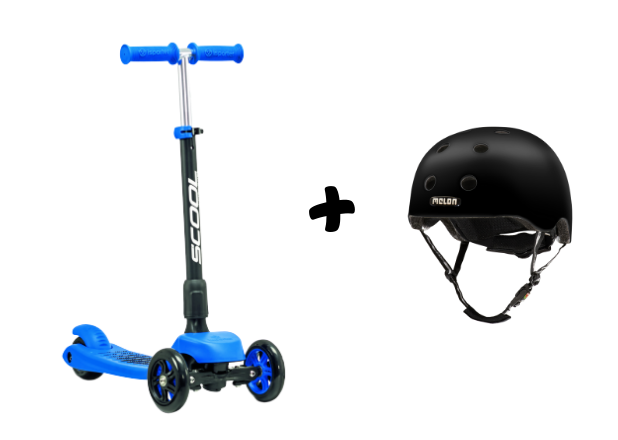 DK flax mini modrá s čiernou helmou